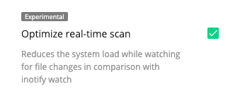 OptimizeRealTimeScan