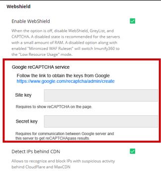 Google reCaptcha service
