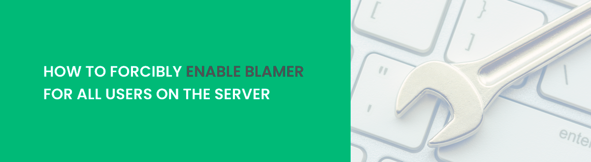 how to forcible enable blamer
