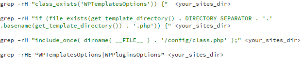 screenshot 4 - malware identified - grep patterns