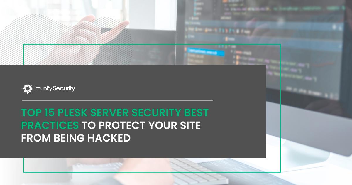 plesk security best practices